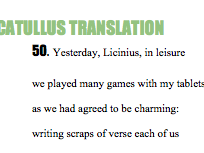 Catullus Love Poems translation - Selection