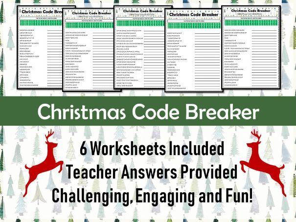 Christmas Worksheets - Code Breaker