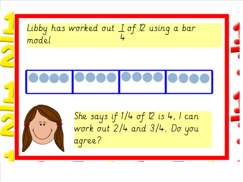 Image result for bar model fractions ks1