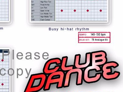 Cubase drum maps Club Dance