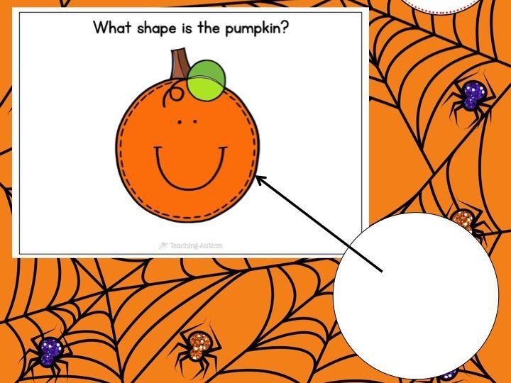 2D Shapes Pumpkin Matching