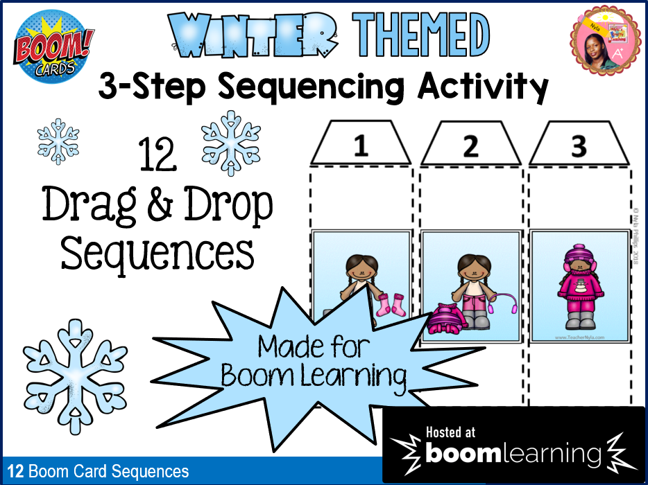 Winter Themed Sequencing Activity with Boom Cards™