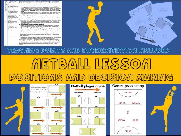 Netball lesson plan - positions and decision making (year 7)