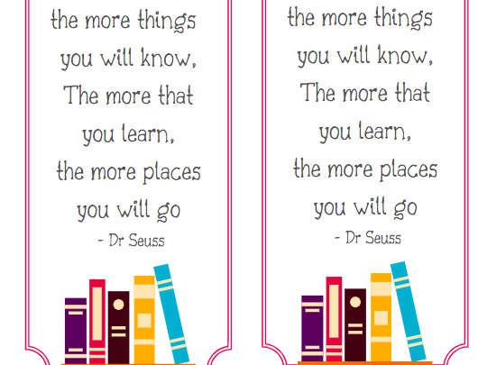 Inspiration Reading Bookmarks
