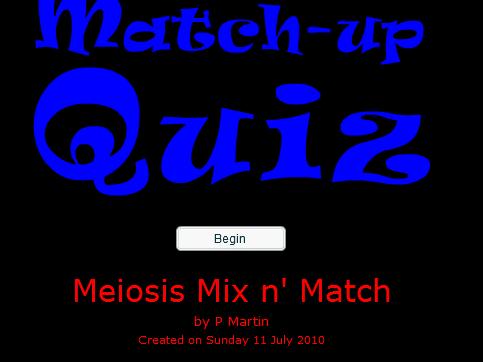 Fun Starter or Plenary Game Involving Meiosis.