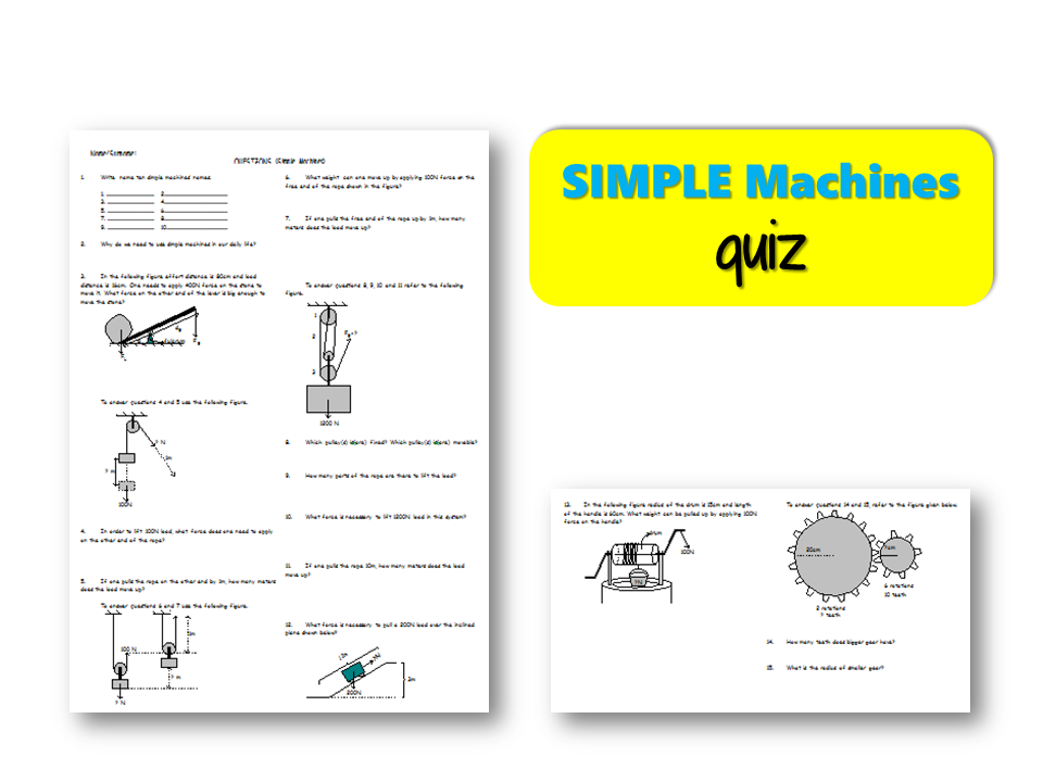 Simple MACHINES – Quiz