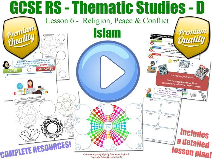 GCSE Islam - Religion, Peace & Conflict - Unit Overview (Religious Studies - L6/7)