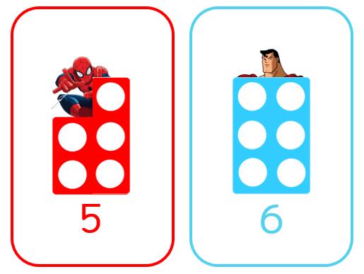 Superhero Numicon Flashcards
