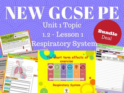 NEW Edexcel GCSE PE Unit 1 – Topic 1.2 – Respiratory System – Intro (BUNDLE)