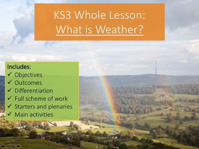 KS3 What is Weather? Whole Lesson