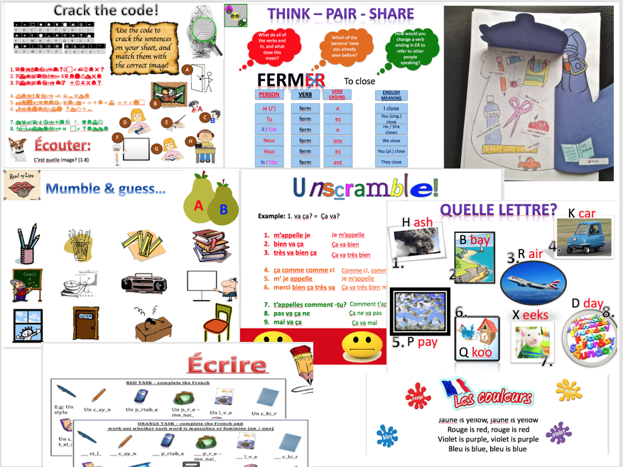 Expo 1 Module 1 (greetings, school objects, numbers, birthday, in class, colours)- complete topic - differentiated lessons with worksheets and homework