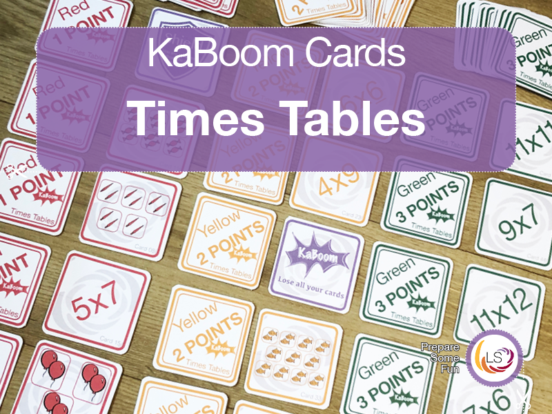Times Tables | KaBoom Card Game