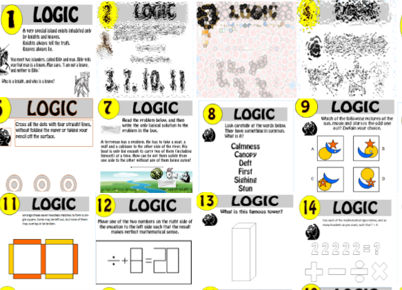 14 resource Logic Puzzle Bundle!! 1-14
