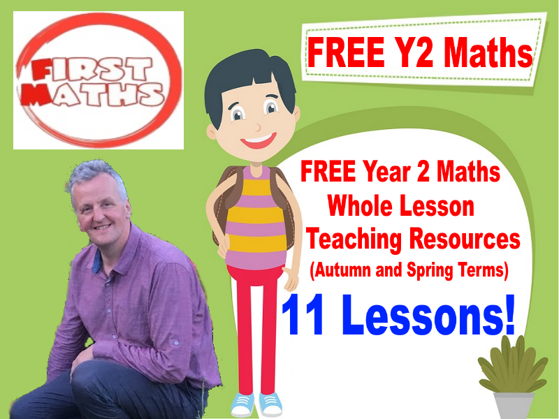 FREE Year 2 YouTube Maths PowerPoint Whole Lesson Resources (Autumn and Spring Terms)