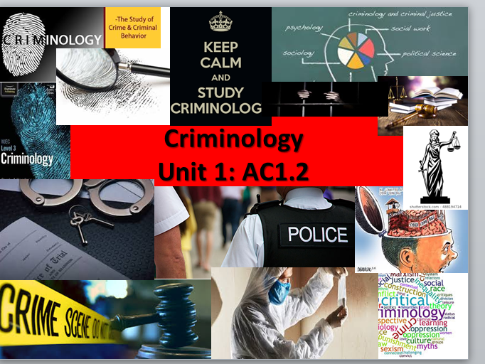 Criminology Level 3 (New Spec) WJEC/Eduqas Unit 1 Changing Awareness of Crime AC1.2
