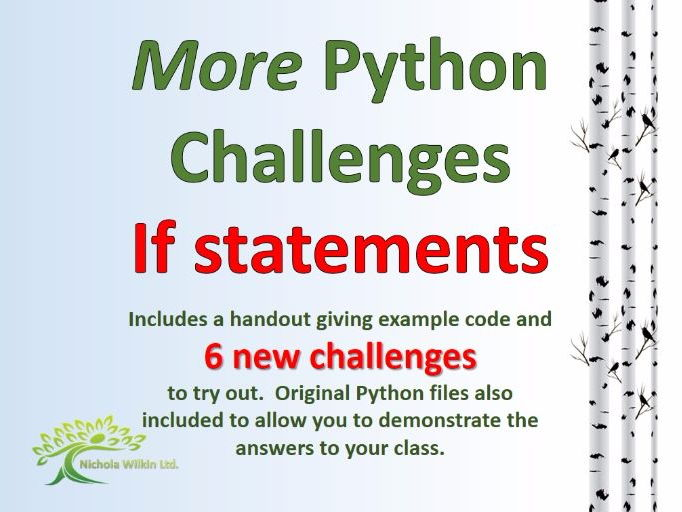 MORE Python Challenges - If statements