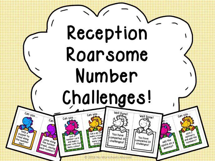 Reception Number ELG Challenge Cards
