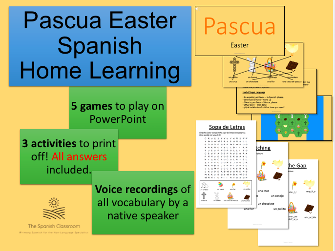 Pascua Easter Spanish Home Learning