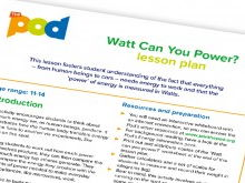 What can you power? Lesson plan