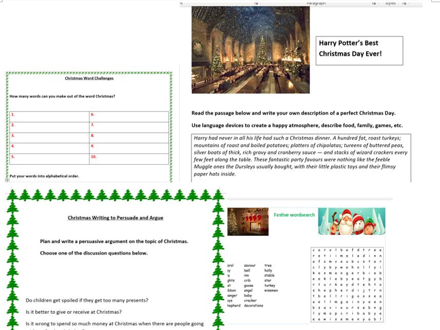 Christmas FunctionalSkills English Collection