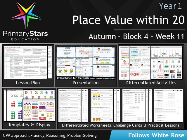 YEAR 1 - Place value - White Rose - WEEK 11 - Block 4 - Autumn - Differentiated Planning & Resources