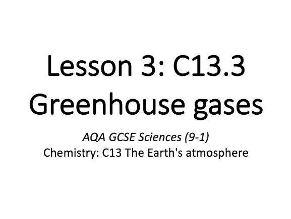 C13.3 Greenhouse gases