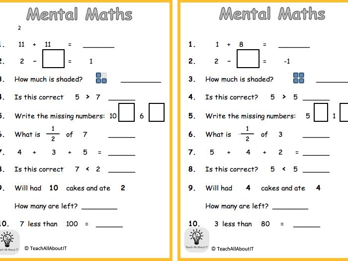 KS1 Mental Maths - Year 2