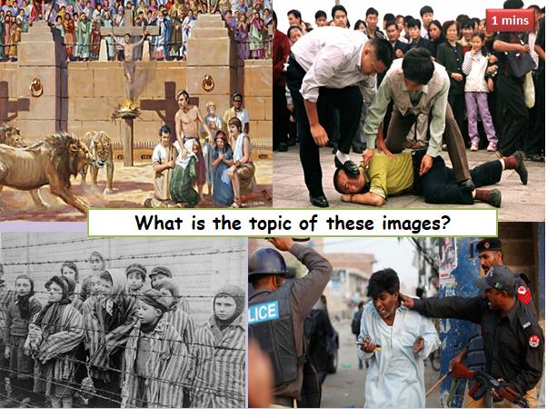 AQA RELIGIOUS STUDIES:  CHRISTIAN PRACTICES:  CHRISTIAN RESPONSES TO PERSECUTION