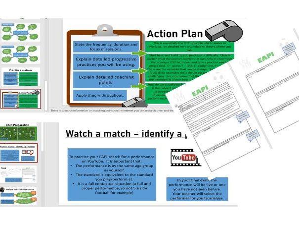 A Level PE Coursework - EAPI guide and task