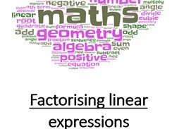 Factorising Linear Expressions: Practice questions