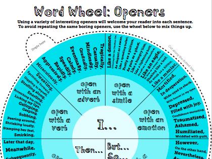 Openers Word Wheel