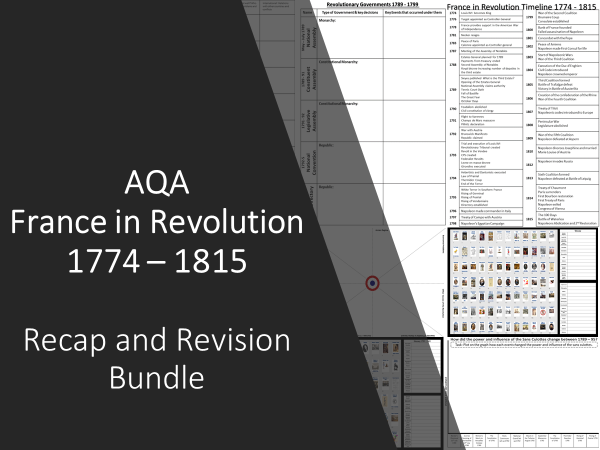 AQA France in Revolution: Recap and Revision Bundle