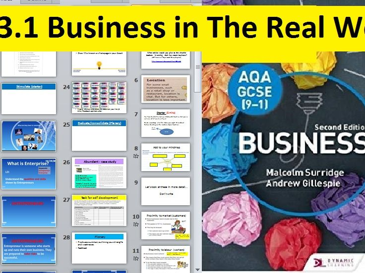 AQA GCSE 9-1 Business - 3.1 Business in the real world