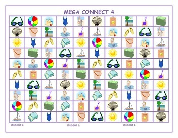 Summer Mega Connect 4 game