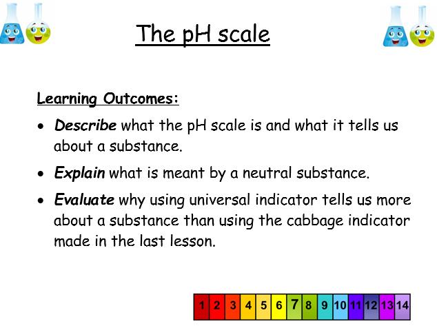KS3, Acids & alkalis - Lesson 3: the pH scale (teacher powerpoint & student workbook)