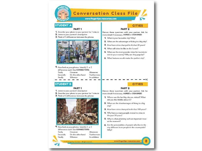 Cities - ESL Conversation Activity