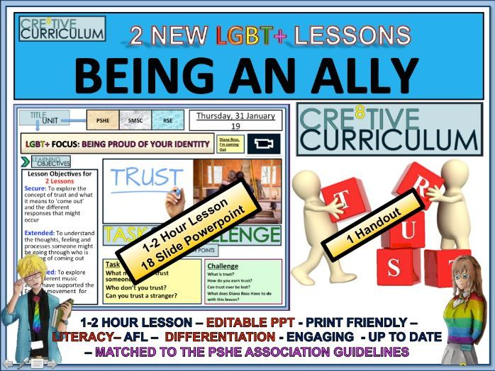 Being an Ally - PSHE 2 Lessons - RSE/C8/LS/04