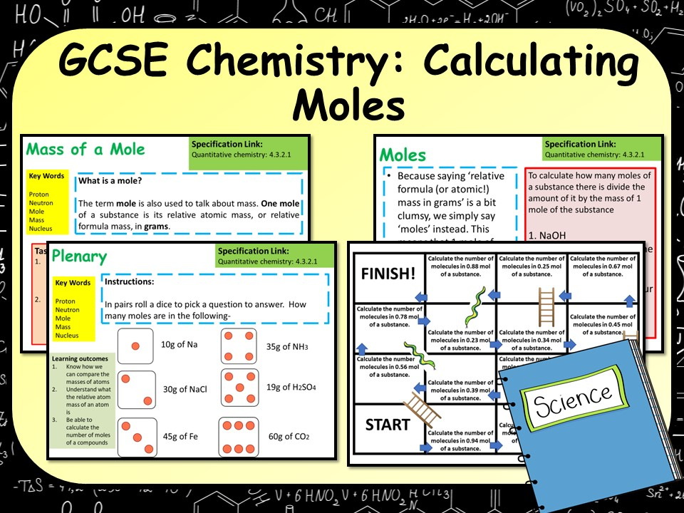 AQA GCSE Chemistry (Science) Calculating Moles Lesson