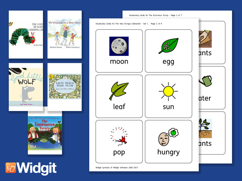 Big Books Pack 5 - Flashcards with Widgit Symbols