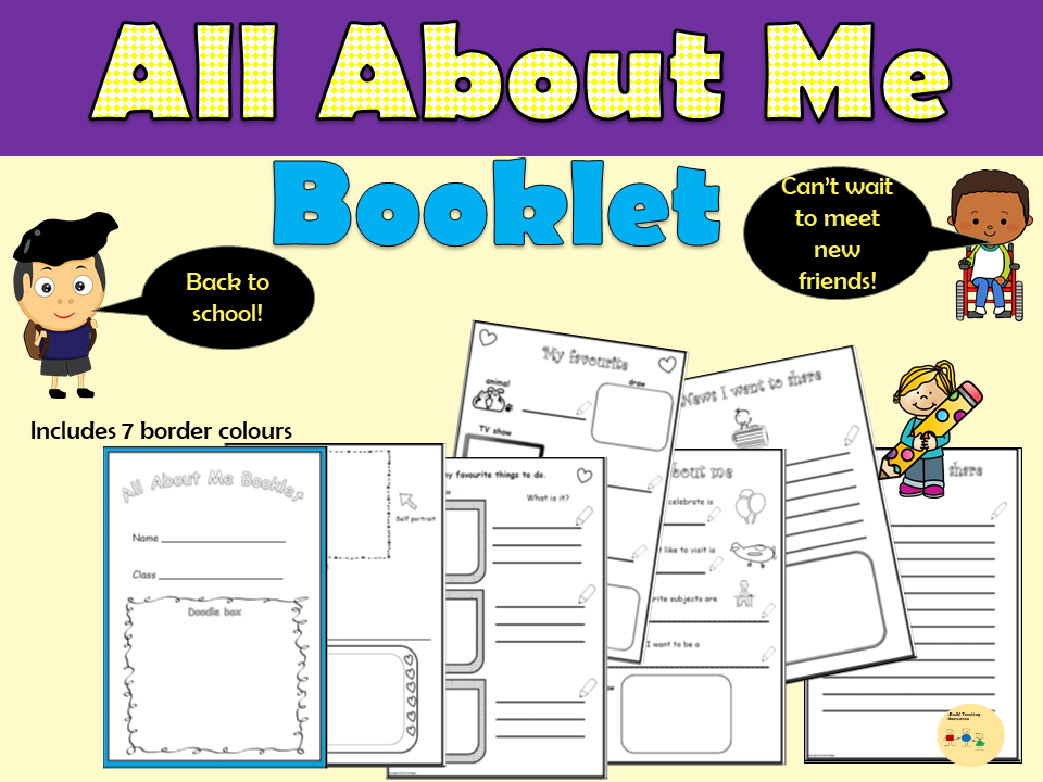 All About Me Booklet - Back to School Worksheets, Drawing -  KS1