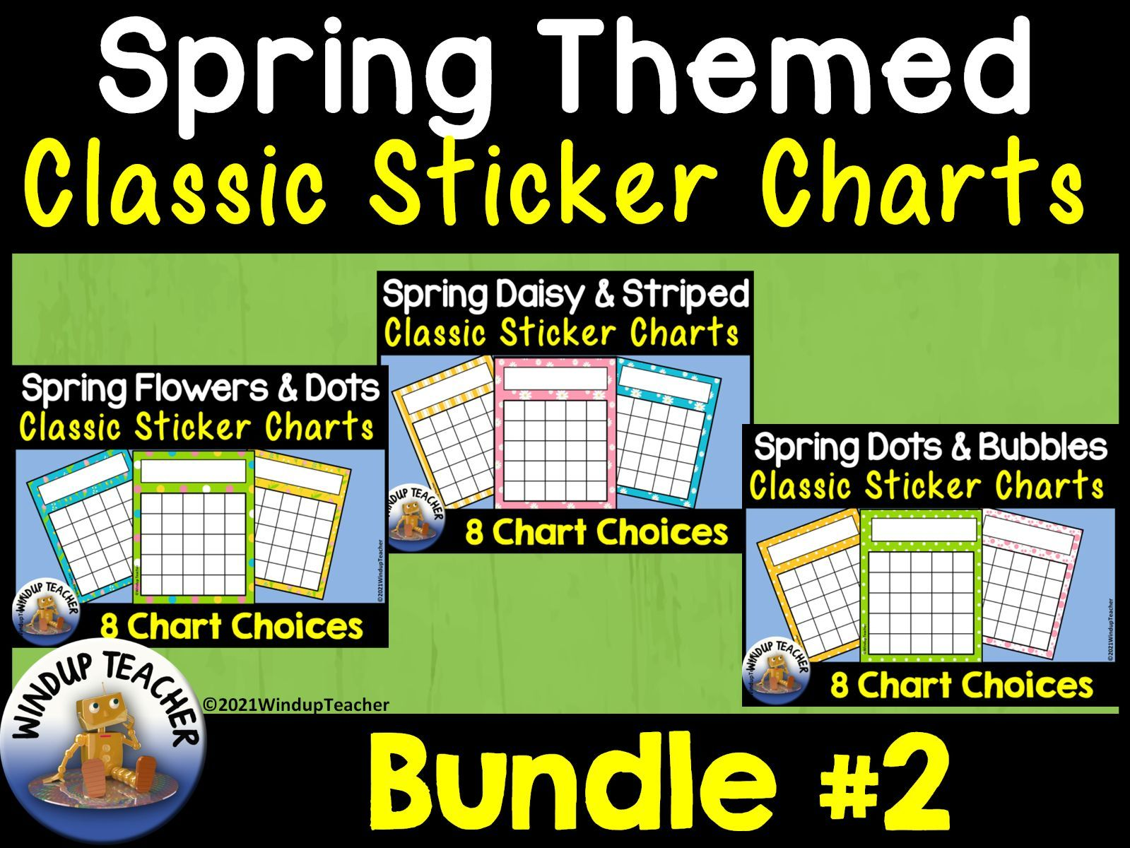 Spring Sticker Charts CLASSIC LINE BUNDLE #2