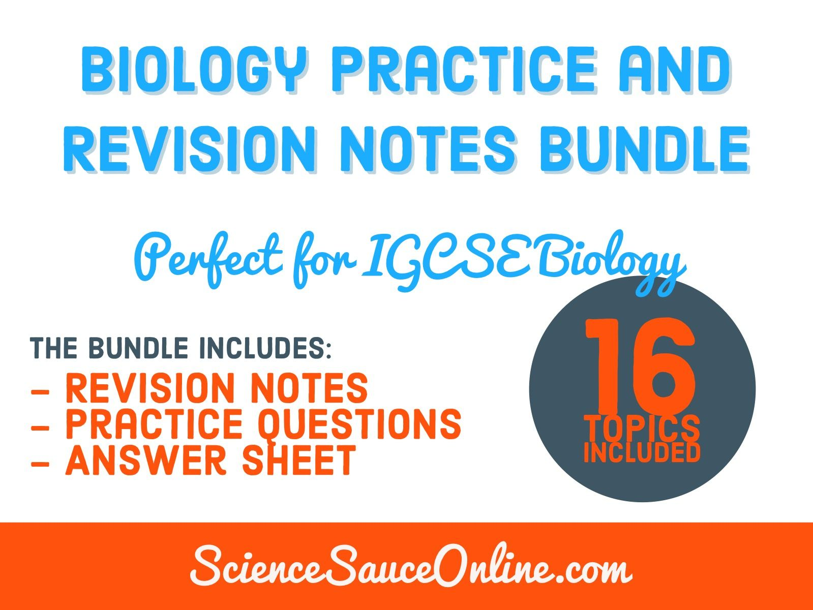 Biology Practice and Revision Notes Bundle (Big discount)