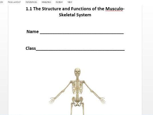 Edexcel GCSE PE 9-1. Musculo-Skeletal System Workbook.