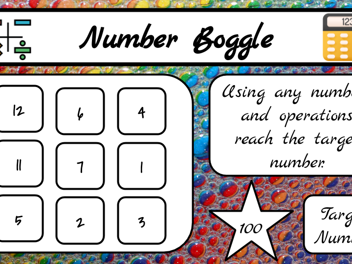 Letter and Number Boggle