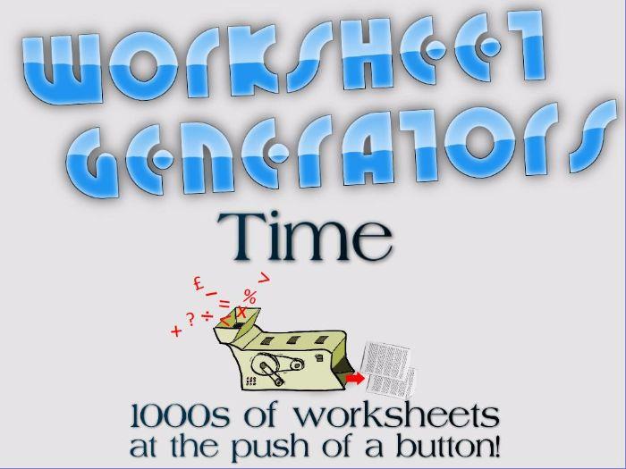 KS2: Time - Worksheet Generators