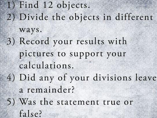 KS2 Investigation: Division Remainders