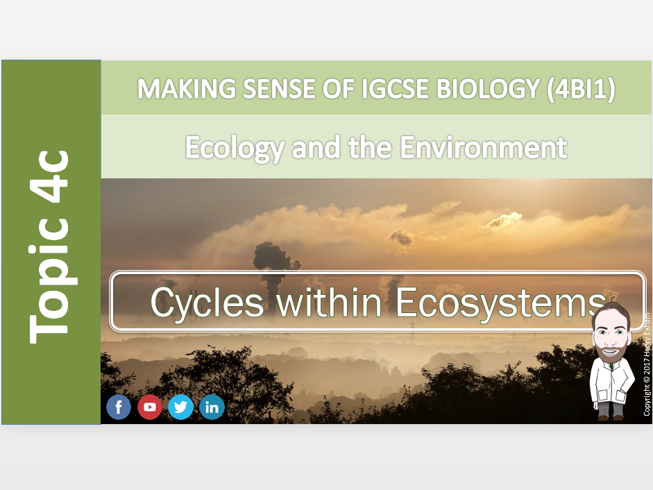 IGCSE Biology 9-1 - 4c Cycles within ecosystems