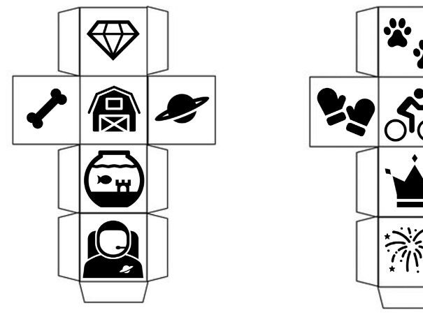 16 Different Story Cubes!