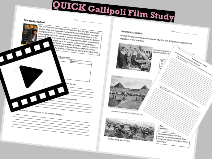 QUICK Gallipoli Film Study