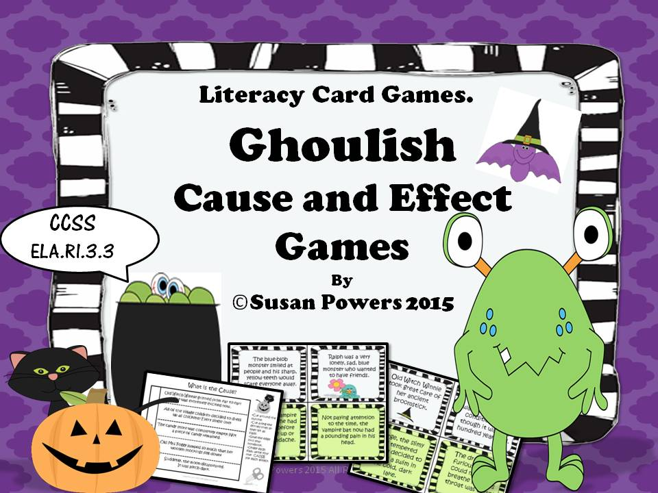 A Ghoulish Game of Cause and Effect Reading Comprehension Halloween Activity